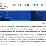 Note de presse : EUCROF Code of conduct